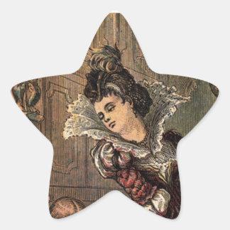Cinderella Helping her Step-Sisters Star Sticker