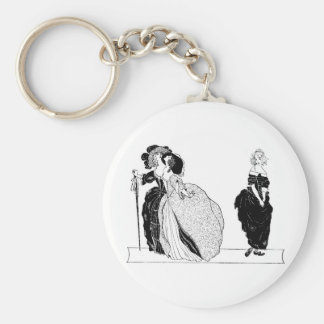 Cinderella & Her Snooty Stepsisters Basic Round Button Key Ring