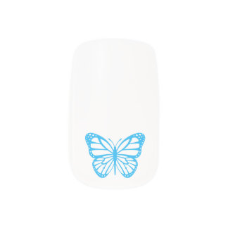 Cinderella inspired Blue Butterfly Nail Art