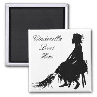 Cinderella Lives Here Magnet