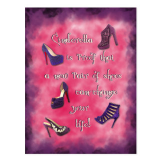 Cinderella - New Shoes Can Change Your Life Postcard