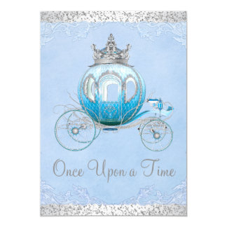 Cinderella Once Upon a Time Princess Birthday 13 Cm X 18 Cm Invitation Card