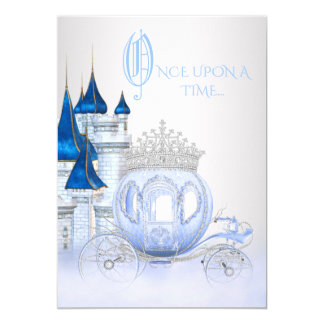 Cinderella Princess Birthday 13 Cm X 18 Cm Invitation Card
