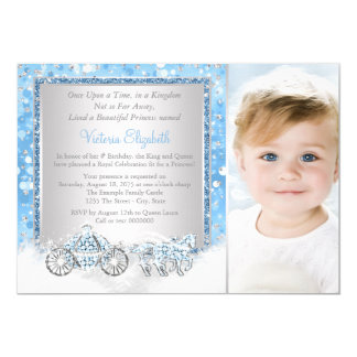 Cinderella Princess Birthday Party 13 Cm X 18 Cm Invitation Card