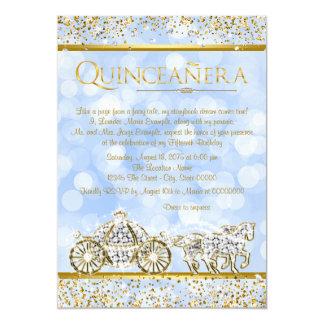 Cinderella Princess Horse Carriage Quinceanera 13 Cm X 18 Cm Invitation Card