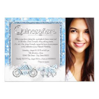 Cinderella Princess Quinceanera 13 Cm X 18 Cm Invitation Card