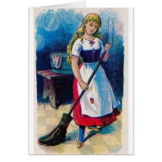 Cinderella s Chores Greeting Card
