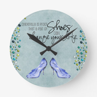 Cinderella Shoes Clock
