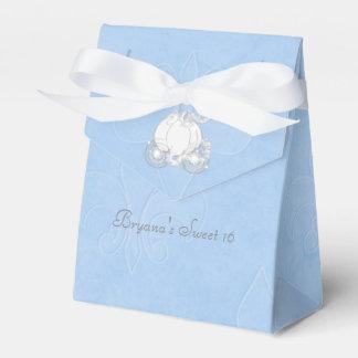 Cinderella Silver Carriage Blue Party Favor Boxes Favour Boxes