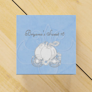 Cinderella Silver Carriage Blue Party Favor Boxes Wedding Favour Box