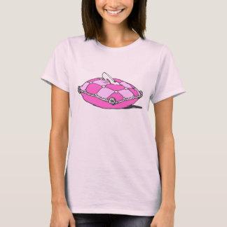 Cinderella Slipper on Pink Pillow Vintage Art T-Shirt