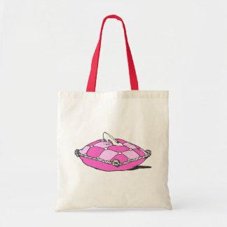 Cinderella Slipper on Pink Pillow Vintage Art Tote Bag