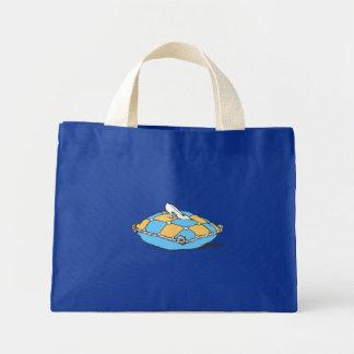 Cinderella Slipper on Teal Orange Pillow Mini Tote Bag