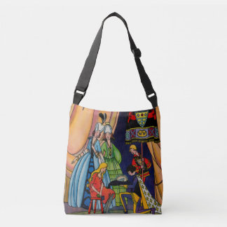 Cinderella, the prince and the glass slipper crossbody bag