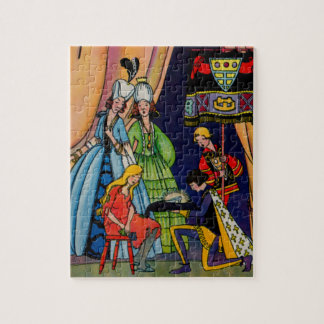 Cinderella, the prince and the glass slipper puzzle