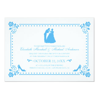 Cinderella Wedding | Silhouette & Flowers Invite