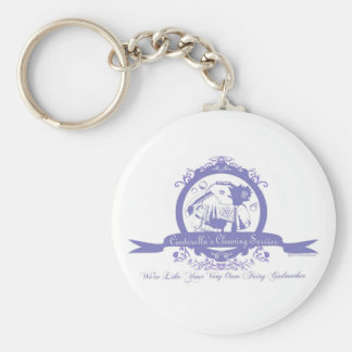 Cinderella's Cleaning Service Basic Round Button Key Ring