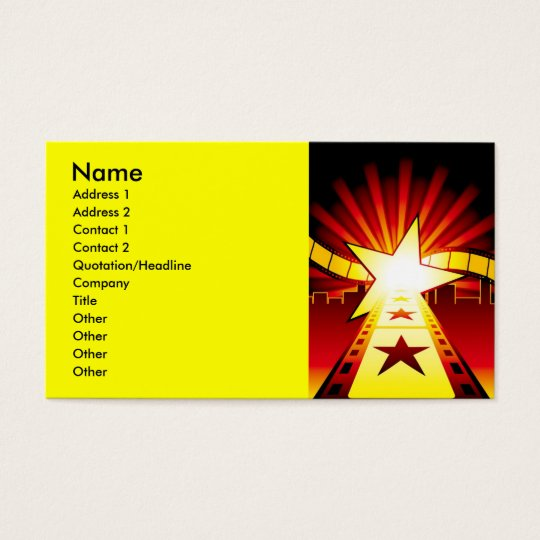 CINEMA7, Name, Address 1, Address 2, Contact 1,... Business Card