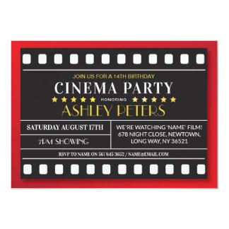 Cinema Birthday Party Any Age Theatre Film Card