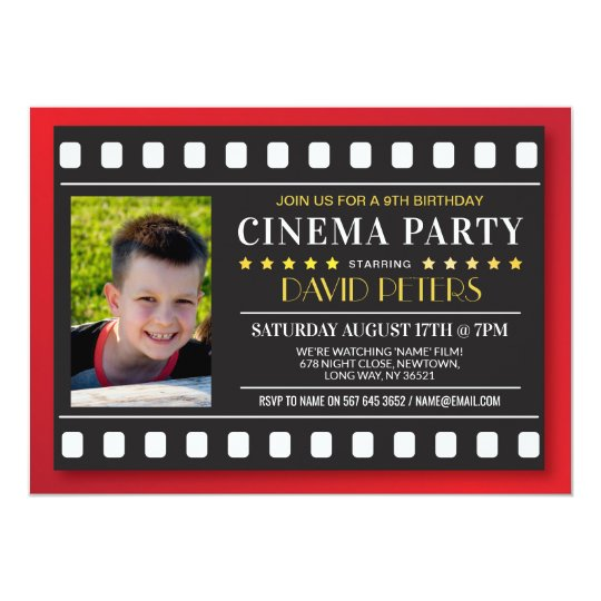 Cinema Birthday Party Film Any Age Red Photo