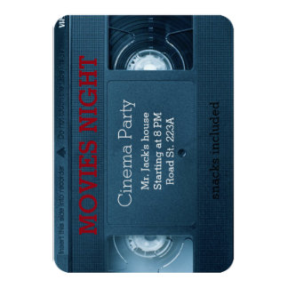 Cinema movies night home house  party card