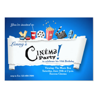 Cinema Party Invitation