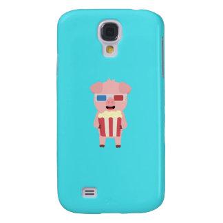 Cinema Pig with Popcorn Q1Q Galaxy S4 Case