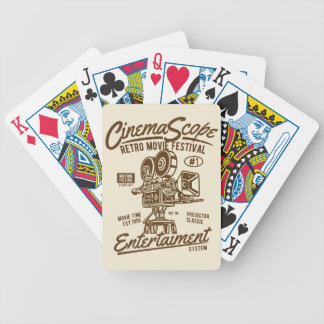 Cinema Scope Classic Retro Hollywood Camera Motion Bicycle Playing Cards