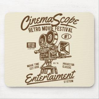 Cinema Scope Classic Retro Hollywood Camera Motion Mouse Mat
