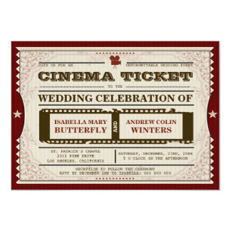 Cinema Ticket - Wedding Invitation