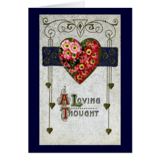 Cinerarias Vintage Valentine Cards