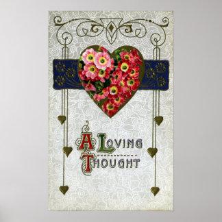 Cinerarias Vintage Valentine Print