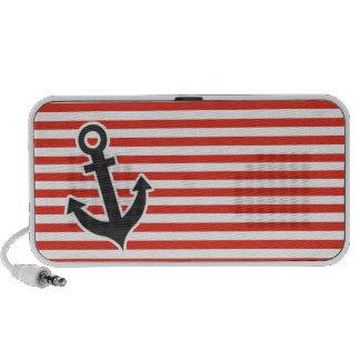 Cinnabar Color Horizontal Stripes; Striped; Anchor Speaker