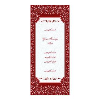 Cinnabar Floral Wedding Suite-Invitations 10 Cm X 24 Cm Invitation Card