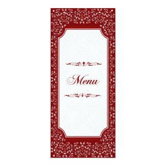 Cinnabar Floral Wedding Suite-Menu Card2 Card