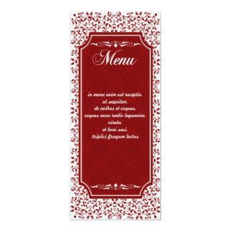 Cinnabar Floral Wedding Suite-Menu Cards 10 Cm X 24 Cm Invitation Card