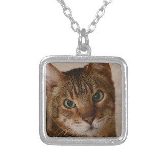Cinnamon 1 square pendant necklace