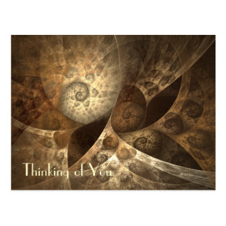 Cinnamon & Ginger Fractal Art Postcard