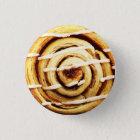 Cinnamon roll 3 cm round badge