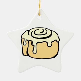Cinnamon Roll Honey Bun Cartoon Design Funny Christmas Ornament