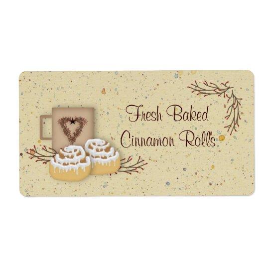Cinnamon Rolls Label