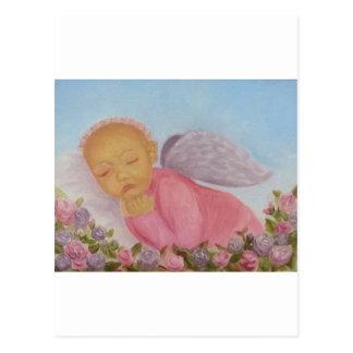 Cinnamon Rose Angel Baby Post Cards