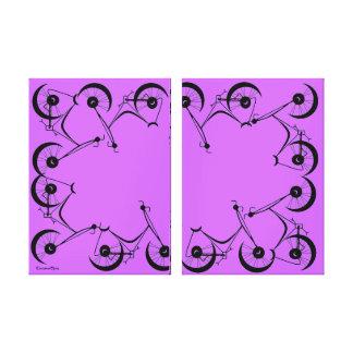 Cinnamon Shiva's ~ Pedals In Black And Lavender Canvas Print