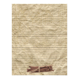 Cinnamon Sticks Crumpled Paper Lined Recipe Pages
