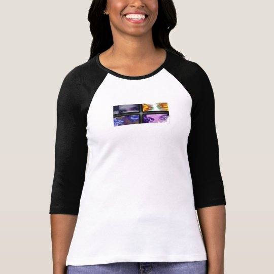 Cinnamongrrl Eyes Ladies 3/4 Sleeve Raglan T-Shirt