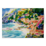 Cinque Terra Monterossa From Above Greeting Card
