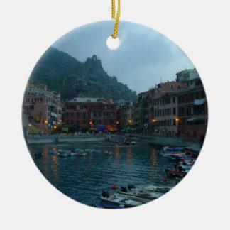 Cinque Terre at Dusk Christmas Ornament
