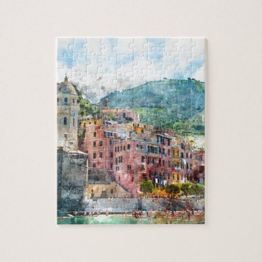 Cinque Terre Italy in the Italian Riviera Jigsaw