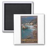 Cinque Terre - Morning Monterosso Beach Fridge Magnet