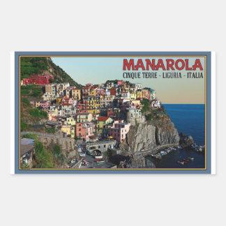 Cinque Terre - The Town of Manarola Rectangular Stickers